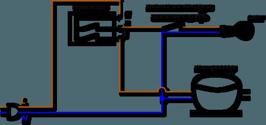 Схема подключения терморегулятора в холодильниках