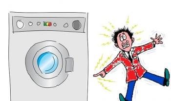 Почему стиральная машина бьет током