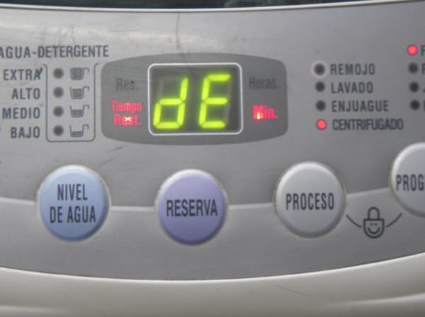 Ошибка DE стиральной машины LG: как исправить