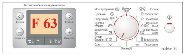 Что значит ошибка F63 стиральной машины Бош